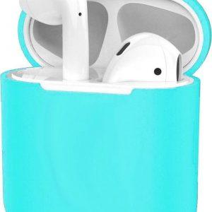 Hoes voor Apple AirPods 1 Case Siliconen Hoesje Ultra Dun - Cyaan