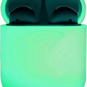 Hoes voor Apple AirPods 1 Case Siliconen Hoesje Ultra Dun - Glow in the dark