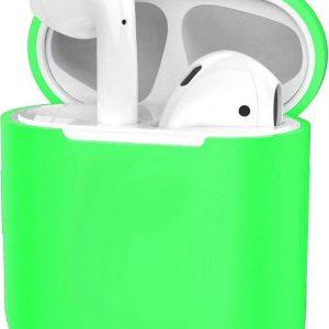 Hoes voor Apple AirPods 1 Case Siliconen Hoesje Ultra Dun - Groen