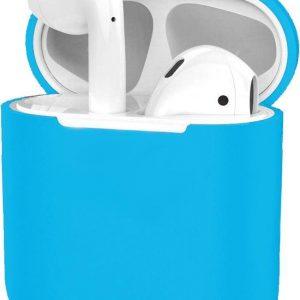 Hoes voor Apple AirPods 1 Case Siliconen Hoesje Ultra Dun - Lichtblauw