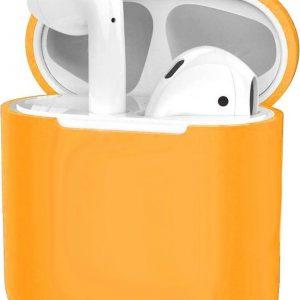Hoes voor Apple AirPods 1 Case Siliconen Hoesje Ultra Dun - Oranje