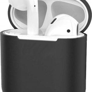 Hoes voor Apple AirPods 1 Case Siliconen Hoesje Ultra Dun - Zwart