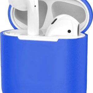 Hoes voor Apple AirPods Hoesje Case Siliconen Cover Ultra Dun - Blauw