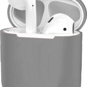 Hoes voor Apple AirPods Hoesje Case Siliconen Cover Ultra Dun - Grijs