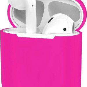 Hoes voor Apple AirPods Hoesje Case Siliconen Ultra Dun - Donker Roze