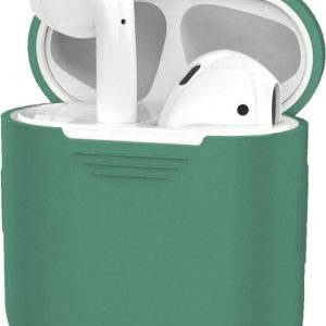 Hoes voor Apple AirPods Hoesje Case Siliconen Ultra Dun - Midnight Green