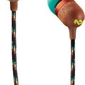 House of Marley Smile Jamaica rasta oortjes - oordopjes met microfoon en 1knopsbediening