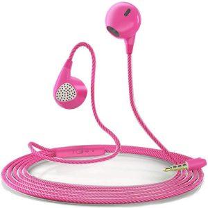 Interdio Oortelefoon - Oortjes - Oordopjes - Samsung - Apple - Akoestisch Geluid -Roze