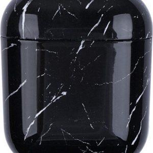 KELERINO. Marmer Case Cover voor Airpods - Beschermhoes - Zwart
