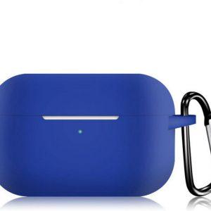 KELERINO. Siliconen Case voor Apple AirPods Pro - Met Haak - Blauw