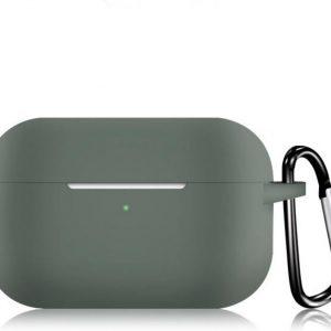 KELERINO. Siliconen Case voor Apple AirPods Pro - Met Haak - Donker Groen