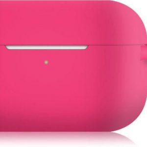 KELERINO. Siliconen Case voor Apple AirPods Pro - Met Haak - Donker Roze