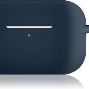KELERINO. Siliconen Case voor Apple AirPods Pro - Met Haak - Donkerblauw
