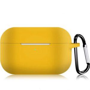 KELERINO. Siliconen Case voor Apple AirPods Pro - Met Haak - Geel