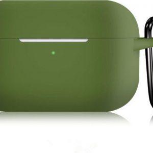 KELERINO. Siliconen Case voor Apple AirPods Pro - Met Haak - Groen