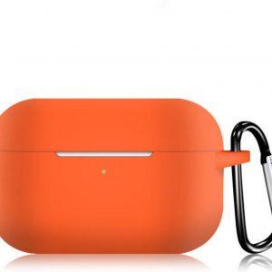 KELERINO. Siliconen Case voor Apple AirPods Pro - Met Haak - Oranje