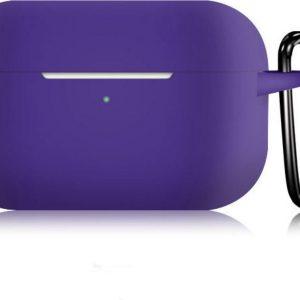 KELERINO. Siliconen Case voor Apple AirPods Pro - Met Haak - Paars