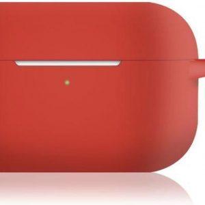 KELERINO. Siliconen Case voor Apple AirPods Pro - Met Haak - Rood