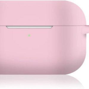 KELERINO. Siliconen Case voor Apple AirPods Pro - Met Haak - Roze