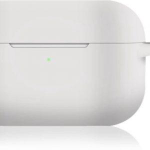 KELERINO. Siliconen Case voor Apple AirPods Pro - Met Haak - Wit