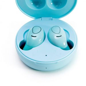 LEDWOOD - bluetooth oortjes - earpods - earbuds - S9 TWS BT 5.0 - draadloos opladen - Induction charge - Blauw
