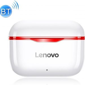 Lenovo LP1 - Draadloze Oordopjes - Volledig draadloze oordopjes - met Noise Cancelling - met Oplaad Case - Bluetooth 5.0 ROOD