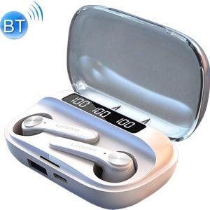 Lenovo - Oordop - Wireless Earphones - Draadloos - Draadloze Oordopjes - Draadloze Oortjes - Bluetooth Oordopjes - Oor - Earpods - Bluetooth Oortjes - Wit