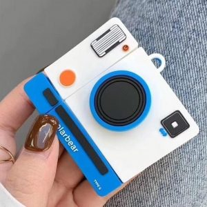 Let op type!! Voor Apple AirPods 1/2 generatie universele draadloze koppel camera Bluetooth beschermhoes (wit)