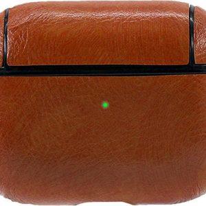Let op type!! Voor Apple AirPods Pro lederen draadloze oortelefoon beschermhoes (bruin)