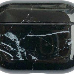 Marmer Case Cover voor Airpods Pro - Beschermhoes - KELERINO. - Zwart