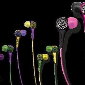 Maxell Audio Wild Pink/Black Zebra