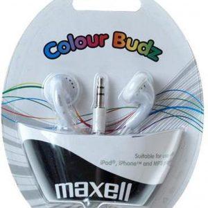 Maxell Colour Budz Wit Intraauraal In-ear koptelefoon