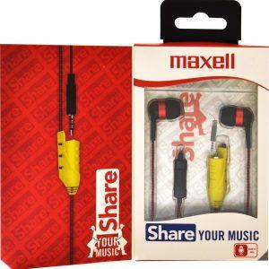 Maxell EB-Share In-Ear kleur Rood-Zwart