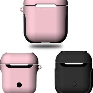 Mobigear Frosted Hard Kunststof Hoesje Roze voor Apple AirPods
