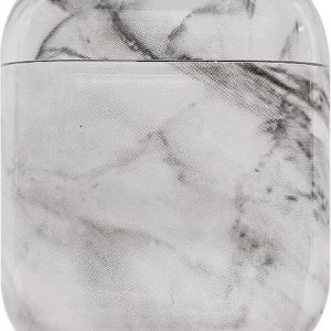 Mobigear Marble Siliconen Cover Wit voor Apple AirPods