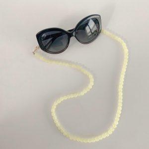 Multifunctionele Brillenkoord | Earpods koord | Geel | Camellia Beads Yellow | Anti-loss | Airpods strap | Mask chain | Zonnebril koord | Earbuds chain| Accessoires| Cadeau voor haar | Brillen ketting | Zonnebril ketting