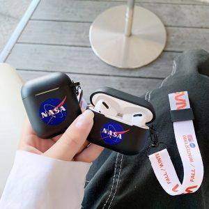 NASA Silicone Case Cover Hoesje voor Apple Airpods - Zwart