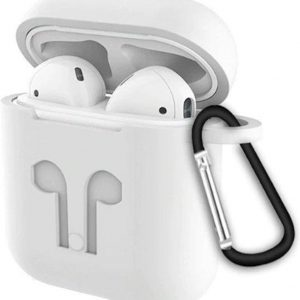 OBS Airpods Hoesje Wit - Siliconen Case Cover voor Apple Airpods - 3 in 1 set!