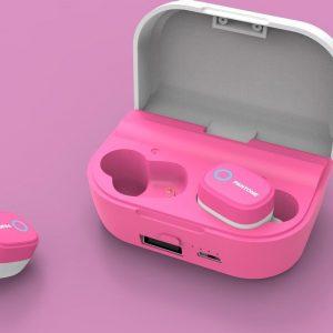 Pantone True Wireless Stereo Earphone TWS - Hot Pink