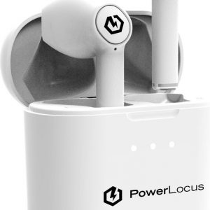 PowerLocus PLX - Volledig Draadloze in-ear Oordopjes - USB-C - Wit