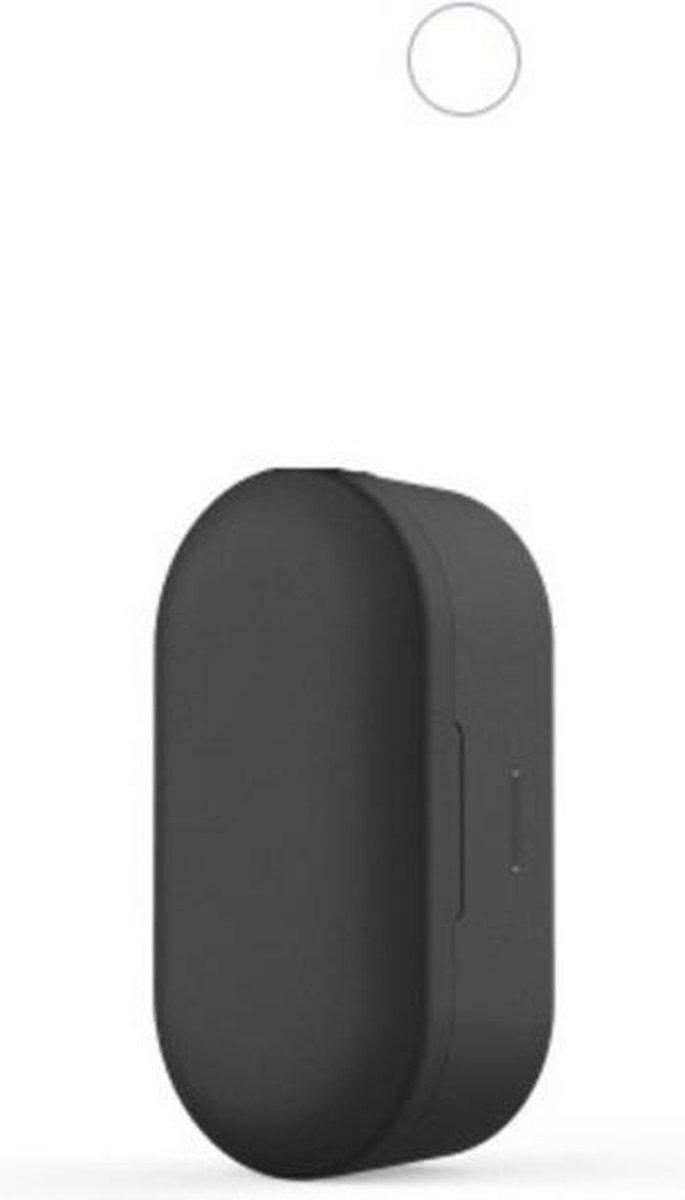 QCY T2C met de NIEUWE realtek VPH chip!   Volledig draadloze oordopjes   BT 5.0   Zwart met zwarte siliconen beschermhoesje