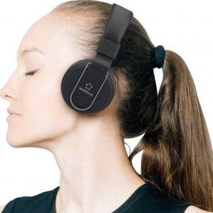 Renkforce RF-BTK-100 Bluetooth HiFi Headset stereo On Ear Headset, Vouwbaar Zwart-grijs