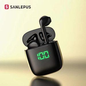 SANLEPUS Led Oortelefoon TWS Draadloze Bluetooth Hoofdtelefoon Stereo Oordopjes Headset Met Draadloos Opladen Voor Xiaomi Android iOS