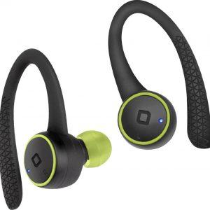 SBS True Wireless Runner Hawks Bluetooth Stereo Earbuds, schwarz/grün