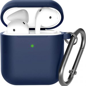 Shieldcase Apple Airpods silicone case - donkerblauw