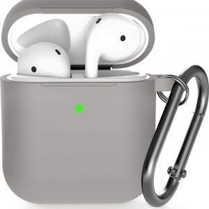 Shieldcase Apple Airpods silicone case - grijs