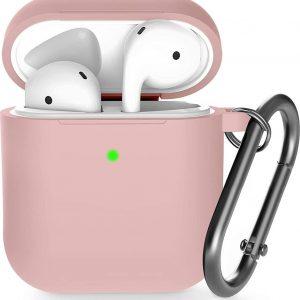 Shieldcase Apple Airpods silicone case - licht roze