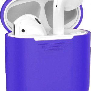Siliconen Bescherm Hoesje Cover voor Apple AirPods 2 Case Donker Blauw