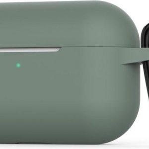 Siliconen Beschermhoes met Hanger voor AirPod Pro - Groen