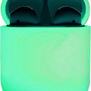Siliconen Hoes voor Apple AirPods 2 Case Ultra Dun Hoes - Glow in the dark